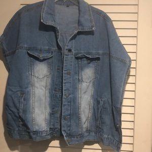 Jackets & Blazers - Denim poncho